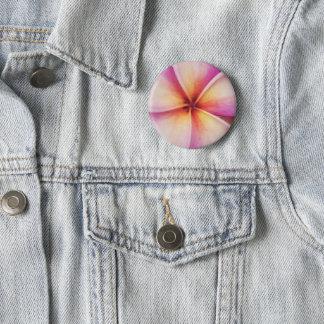 Frangipane Flower Badge 2 Inch Round Button