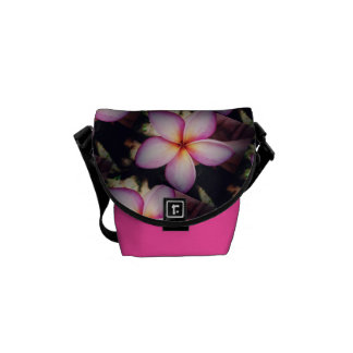 Frangipane Flower Mini Messenger Bag