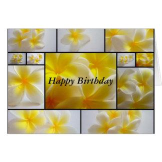 Frangipani Birthday Card