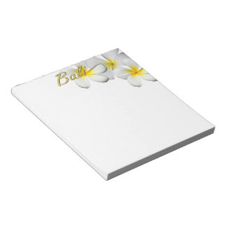 Frangipani Blossoms Notepad