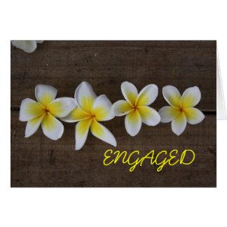 Frangipani Engagement Card