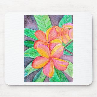 Frangipani Flowers Mouse Pad