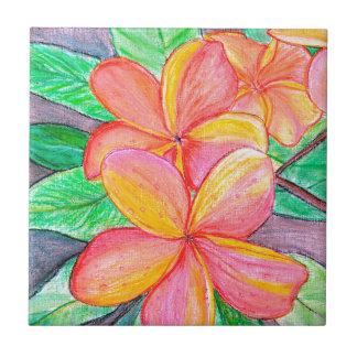 Frangipani Flowers Tile