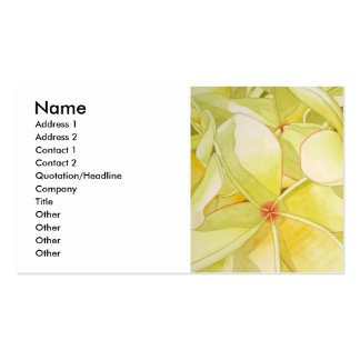 Frangipani jaune citron carte de visite