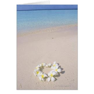 Frangipani on the beach card