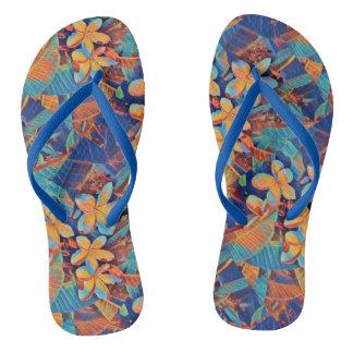 Frangipani paradise flip flops