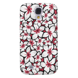 Frangipani Pattern Fuchsia Pink and White