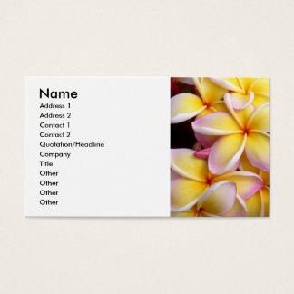 Frangipani - Plumeria Business Card