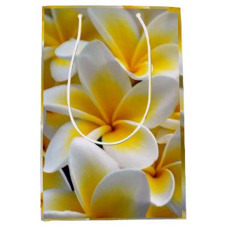 Frangipani Plumeria Flower Photo Medium Gift Bag