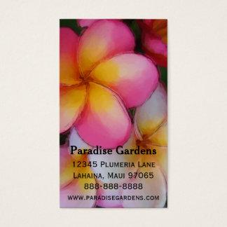 Frangipani Plumeria Flowers Business Card