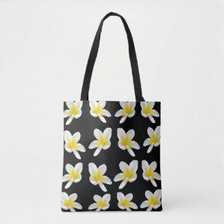 Frangipani Sensation, Full Print Shopping Bag