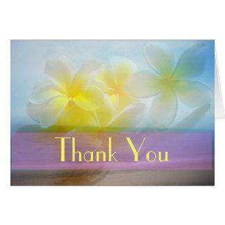 Frangipani Thank You Card