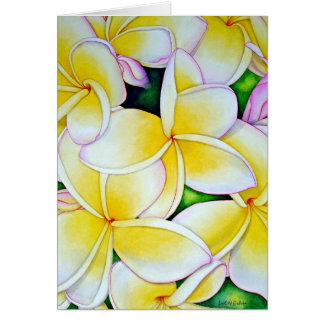 Frangipani Watercolour Card