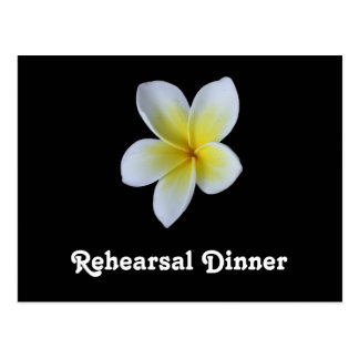Frangipani Wedding Rehearsal Dinner Invitations Postcard