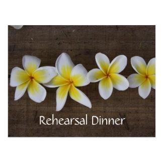 Frangipani Wedding Rehearsal Invitations Postcard