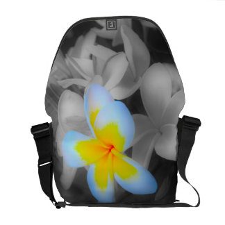 Frangipani with a Splash of Color Courier Bags