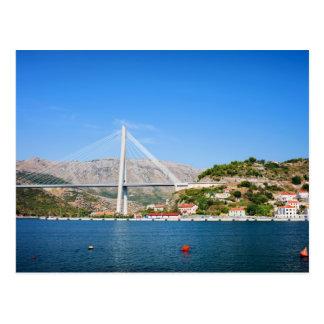 Franjo Tudjman Bridge in Dubrovnik Postcard