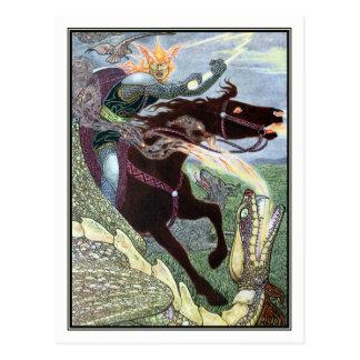 Frank C. Papé Pape - Falcon the Hunter Postcard
