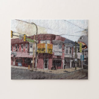 Frank Eats at Baltimore Ave Jigsaw Puzzle