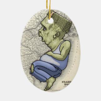 Frank From Hoboken Ceramic Oval Ornament