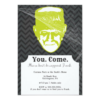 Frank | Funny Halloween Party Invitation 5x7