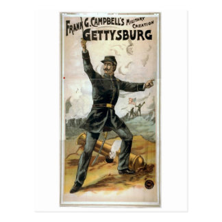 Frank G. Campbell's, 'Gettysburg' Vintage Theater Postcard