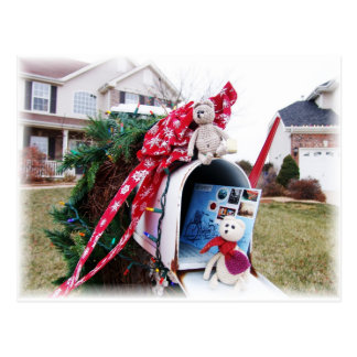 Frank&Leo Christmas Time Mailbox Postcard