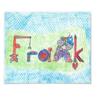 Frank Name for frame or room Photo Print