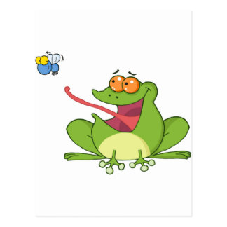 Frank the Frog with Buzzy the Fly Postcard