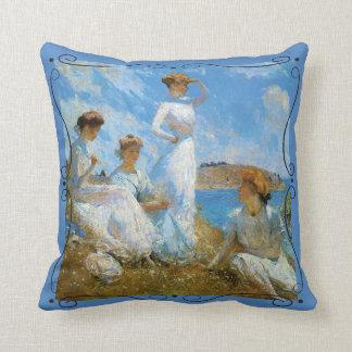 Frank Weston Benson SUMMER 1909 Throw Pillow
