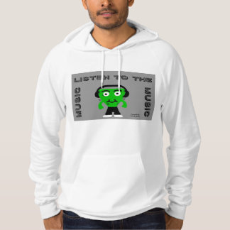 FrankenCheese Listen To The Music Men's Hoodie
