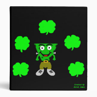 FrankenCheese St. Patrick's Day 3 Ring Binder