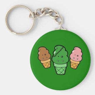 Frankencream Monster Ice Cream Cones Basic Round Button Keychain