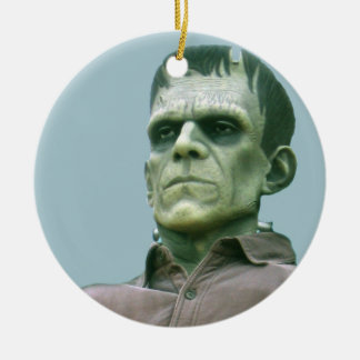 Frankenstein and Azure Skies - Photograph Round Ceramic Ornament