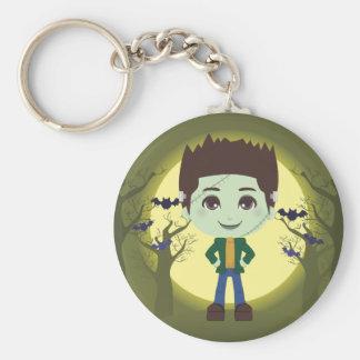 Frankenstein Boy Basic Round Button Keychain