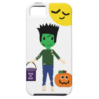 Frankenstein Boy Trick or Treating on Halloween iPhone 5 Cases