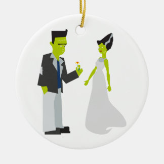 Frankenstein & Bride Ceramic Ornament