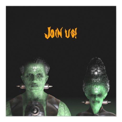 Frankenstein & Bride - Halloween Party Invitation