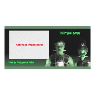 Frankenstein & Bride - Halloween Photo Card