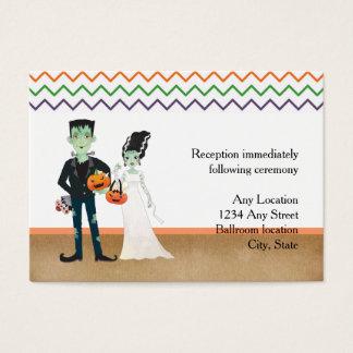 Frankenstein Bride Wedding Reception Cards