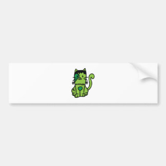 Frankenstein Cat Bumper Sticker