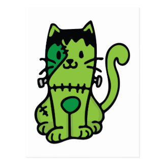 Frankenstein Cat Postcard