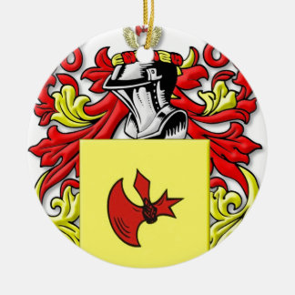 Frankenstein Coat of Arms Round Ceramic Ornament