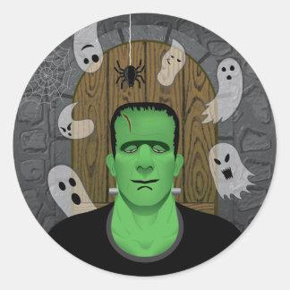 Frankenstein et autocollant de fantômes (variante