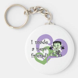 Frankenstein Friend Basic Round Button Keychain
