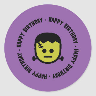 Frankenstein Halloween Birthday Stickers