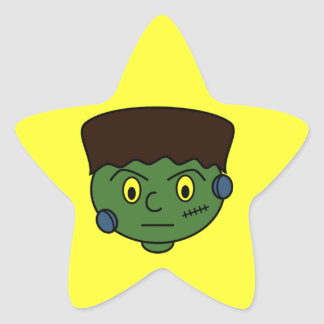 Frankenstein Halloween Cartoon Star Sticker