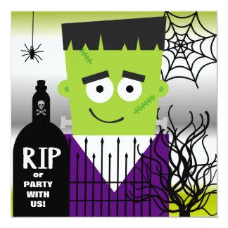 "Frankenstein Halloween Party Invitation 5.25"" Square Invitation Card"