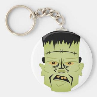 Frankenstein Head Basic Round Button Keychain