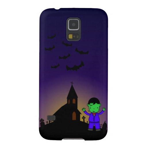 Frankenstein in graveyard with bats phone case galaxy nexus covers